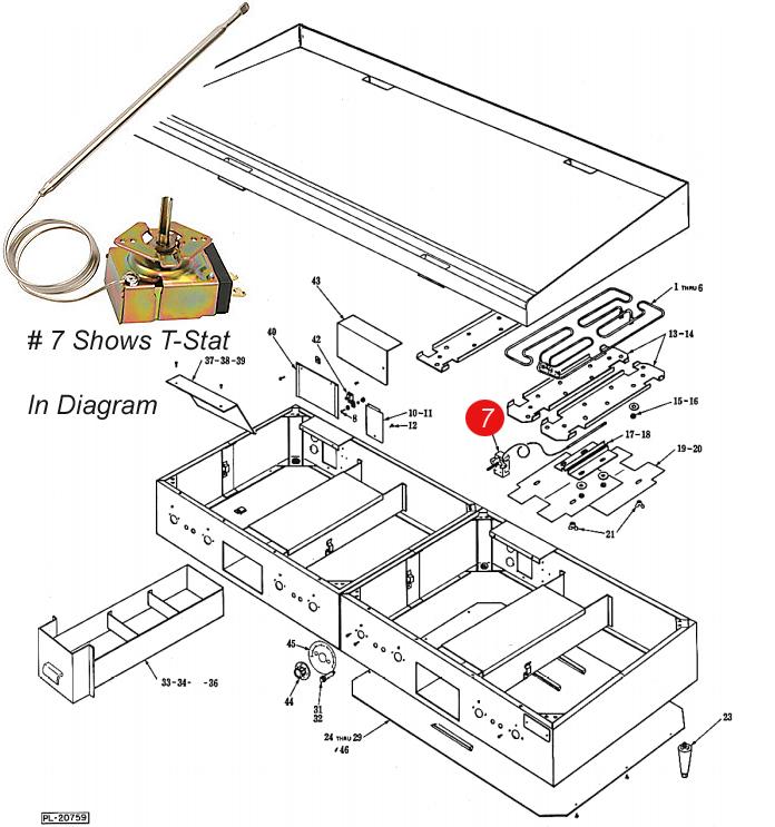 Vulcan    Model SP46336 Thermostat