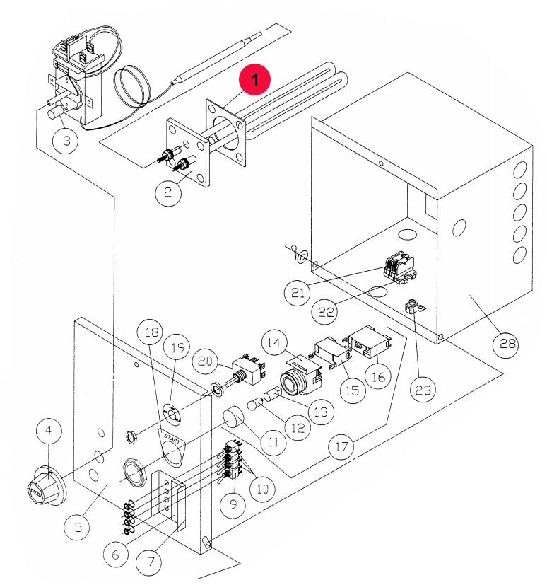 Stero P551134 Heating Element 115v 2000w