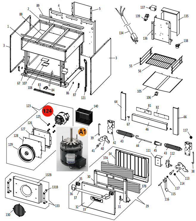 Diagram Of Oven Parts