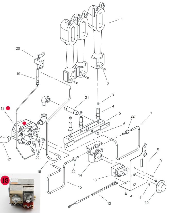 Honeywell V5820a Gas Valve For Pitco Fryer