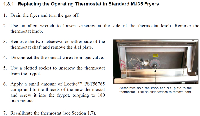 Thermostat Replacement Instructions