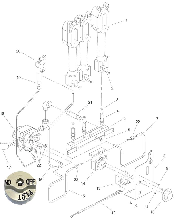 pitco fryer gas valve diagram