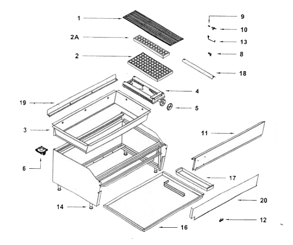 Rankin Broiler Parts Diagram
