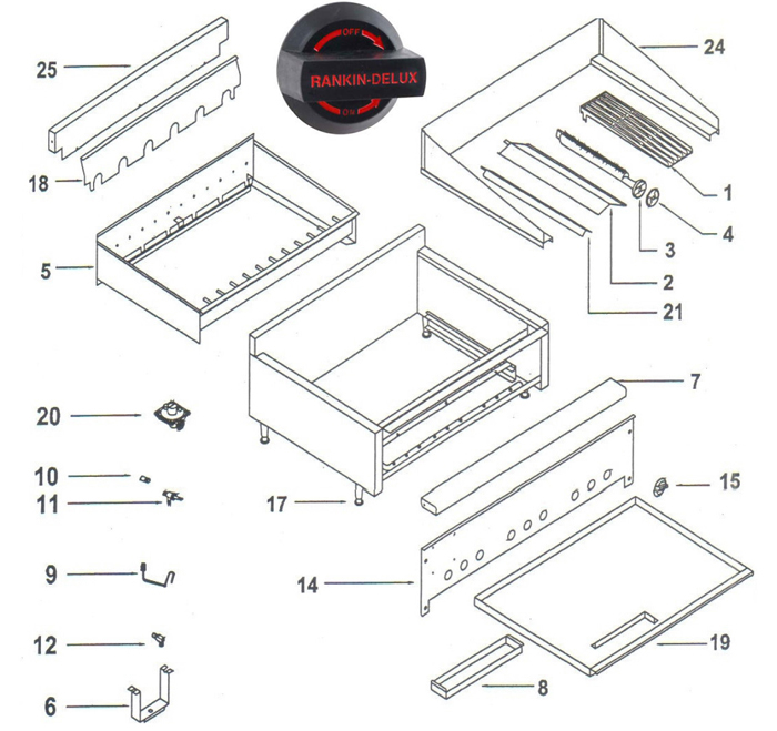 Rankin Delux Parts Diagram Griddle