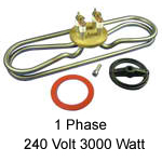 CHROMALOX 240 Volt 3000 Watt - 1 Phase Heater Element w/o Cut Out