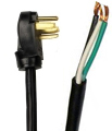 10ft 15 Amp 14 Gauge Power Cord Angled