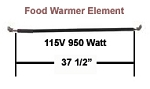 Hatco Food Warmer Element # R02.08.107.00