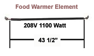 Hatco Food Warmer Element  R02.08.111.00 208 Volt 1100 Watt