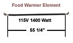 Hatco Food Warmer Element # R02.08.113.00