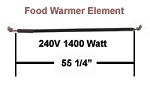 Hatco Food Warmer Element # R02.08.115.00