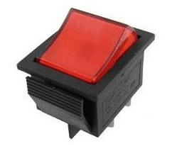 Moffat M013543 On/Off Rocker Switch Lighted - Square Shaped