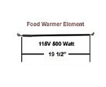 Hatco R02.08.101 Food Warmer Element