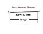 Hatco Food Warmer Element  R02.08.102.00