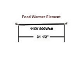 Hatco Food Warmer Element # R02.08.104.00