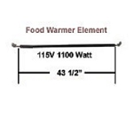 Hatco Food Warmer Element # R02.08.110.00
