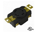 3 Pole 4 Wire 30A 250VAC Grounding Locking Receptacle, NEMA L15-30