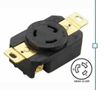 20A 250V AC 2Pole 3Wire Grounding Locking Receptacle, NEMA L6-20