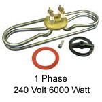 240 Volt 6000 Watt - 1 Phase Heater Element